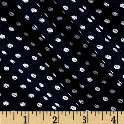 Jacquard Knit Dot Print Navy/White