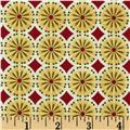 Kaufman Winters Grandeur Metallic Circle Grid Holiday
