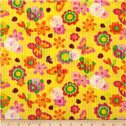 Tutti Frutti Plisse Butterflies and Ladybugs Yellow