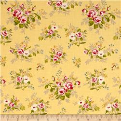 Moda Windermere Prints Garden Cuttings Soft Yellow