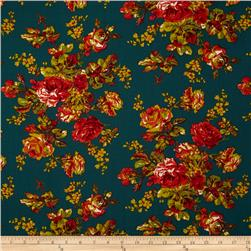 April Cornell Music Collection Victorian Rose Teal