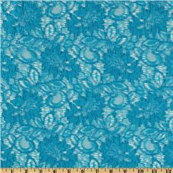 Capri Floral Lace Fabric Blue