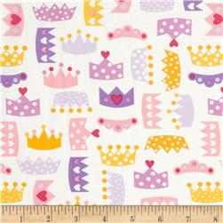 Robert Kaufman Princess Life Small Crowns Spring