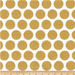 Kaufman Spot On Metallic Geo Dot Blanc