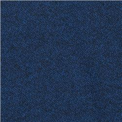 Kaufman Shetland Flannel Textured Solid Navy Fabric
