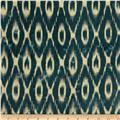 Textile Creations Batik Duck Diamond Ikat Indigo/Cream