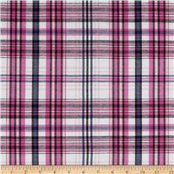 Yarn Dyed Cotton Shirting Plaid Pink/White