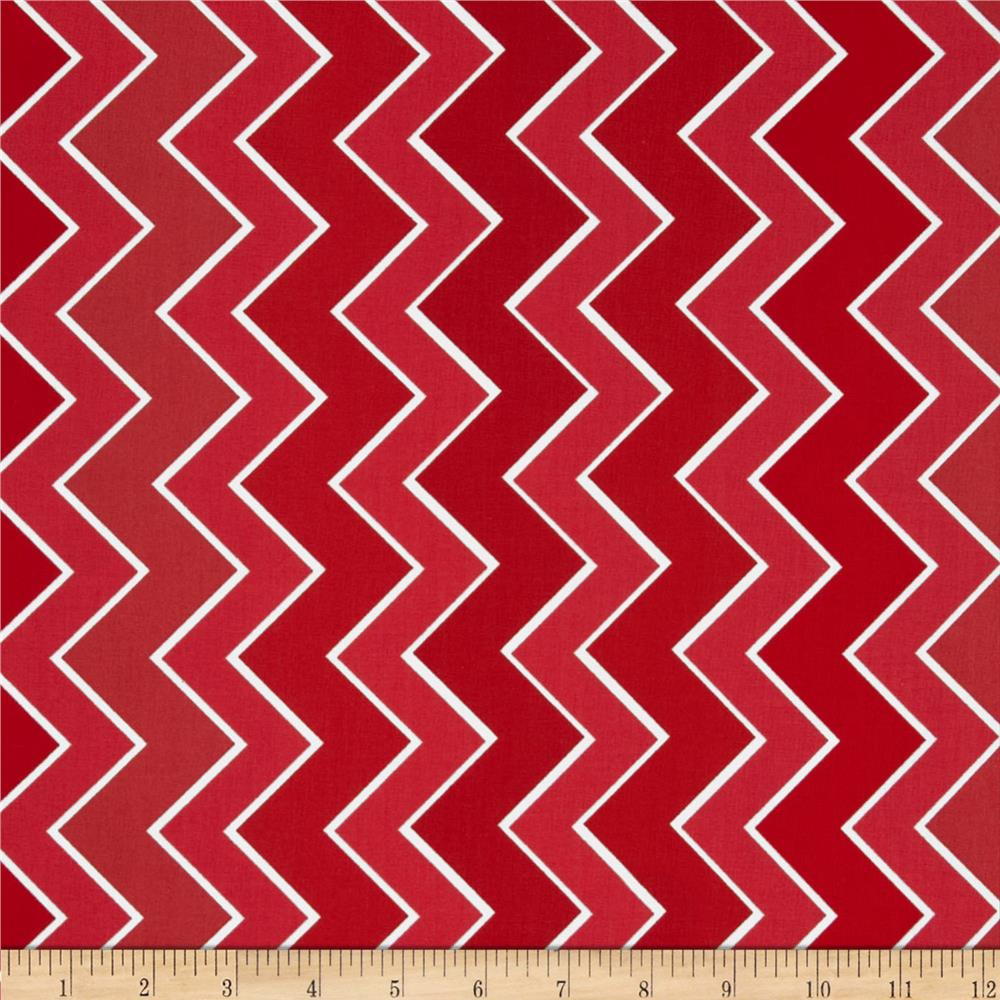 Riley Blake Medium Shaded Chevron Cinnamon