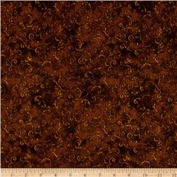 "Essentials 108"" Wide Back Flannel Filigree Brown"
