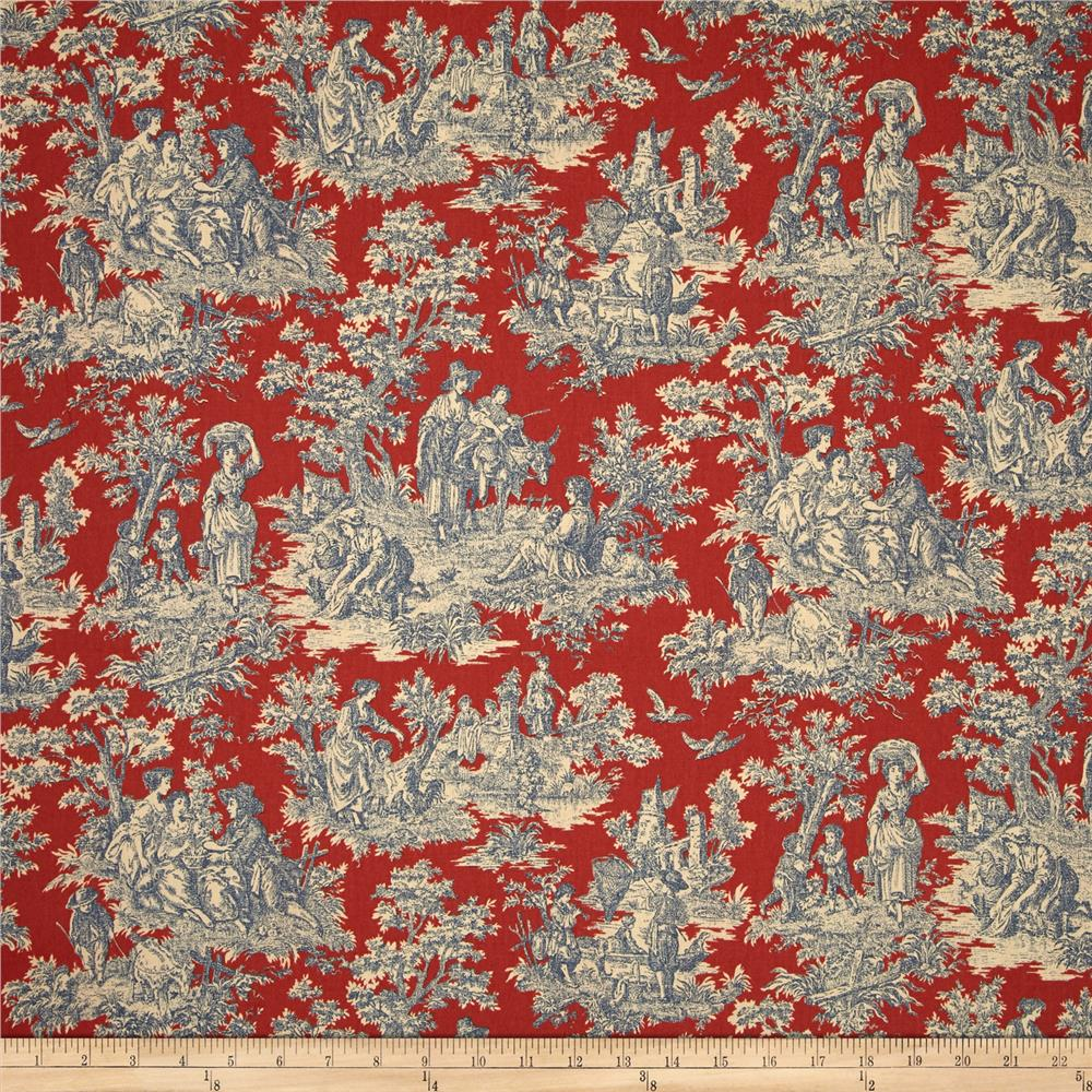 Waverly Charmed Life Toile Heritage - Discount Designer Fabric ...