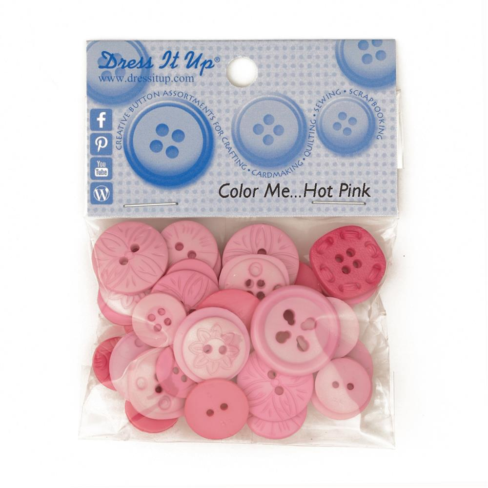 Dress It Up Color Me Collection Buttons Hot