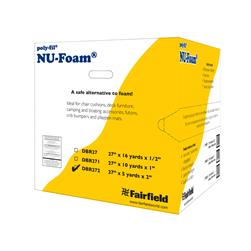 "Fairfield Poly-Fil Nu-Foam 27"" x 5yds x 2""  Roll"