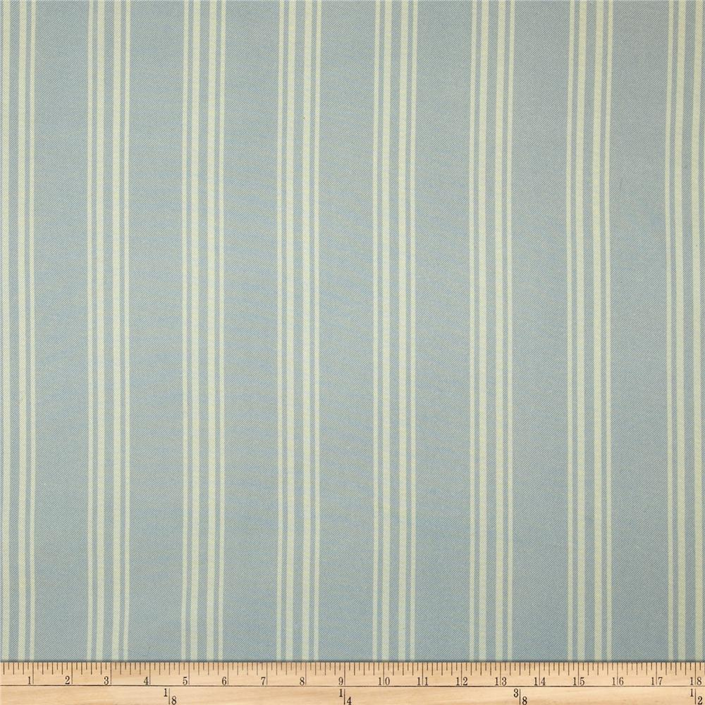 Cotton Twill Stripe Blue/Natural