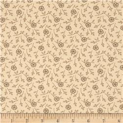 Birds of a Feather Tossed Floral Light Tan/Brown