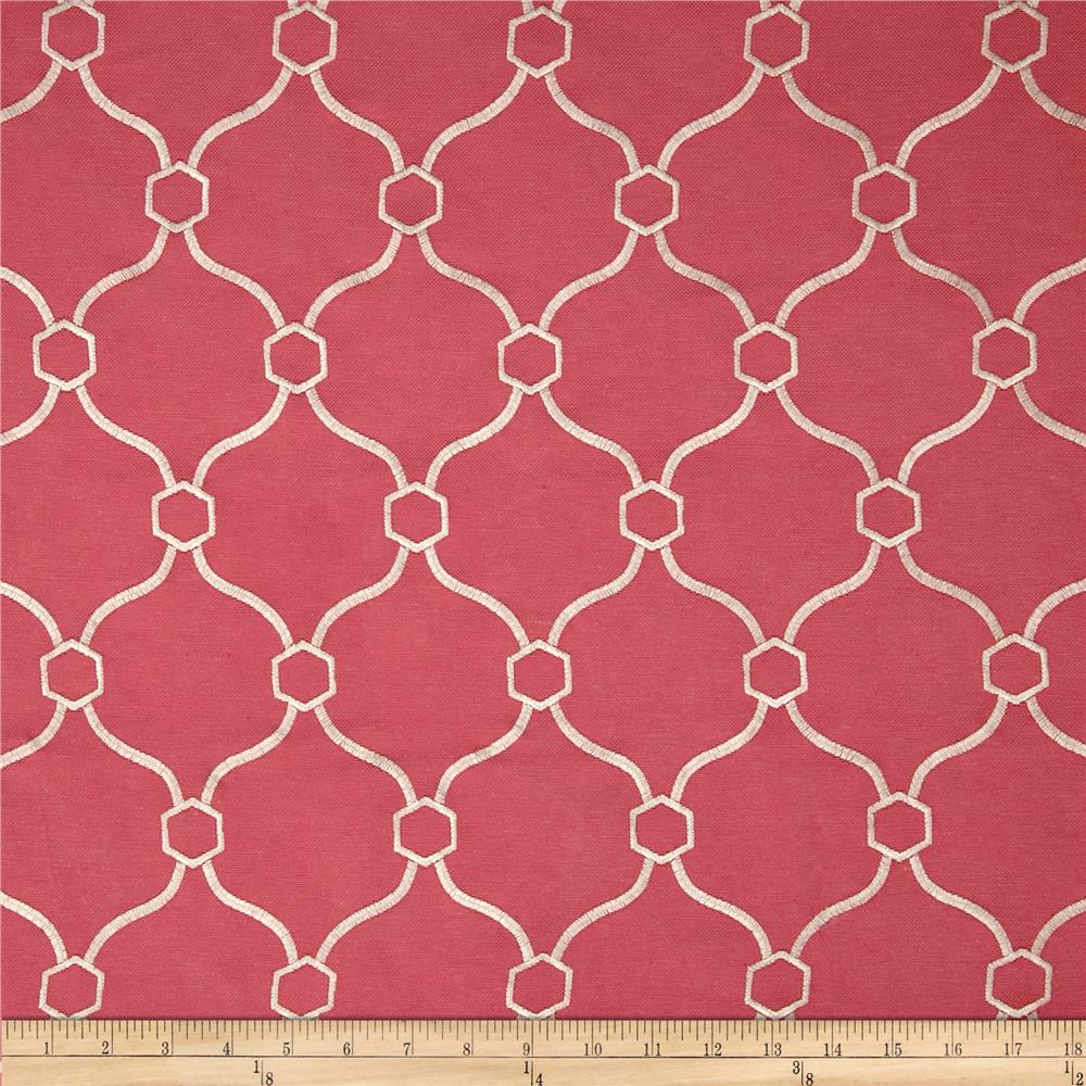 Regal Embroidered Vera Quatrefoil Geranium