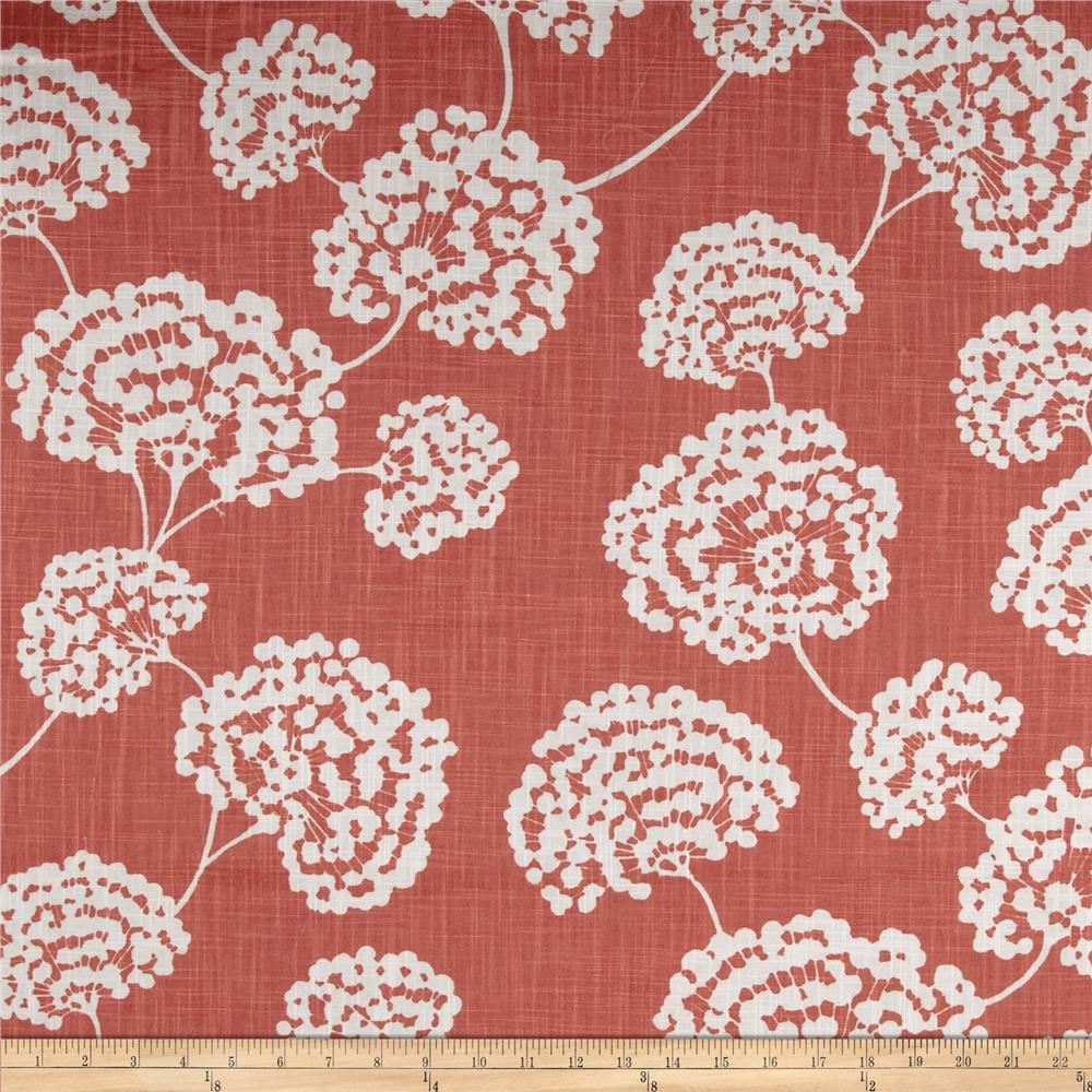 Robert Allen @ Home Crypton Toile Stems Coral