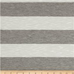 Yarn-Dyed Jersey Stripe Knit Grey/White