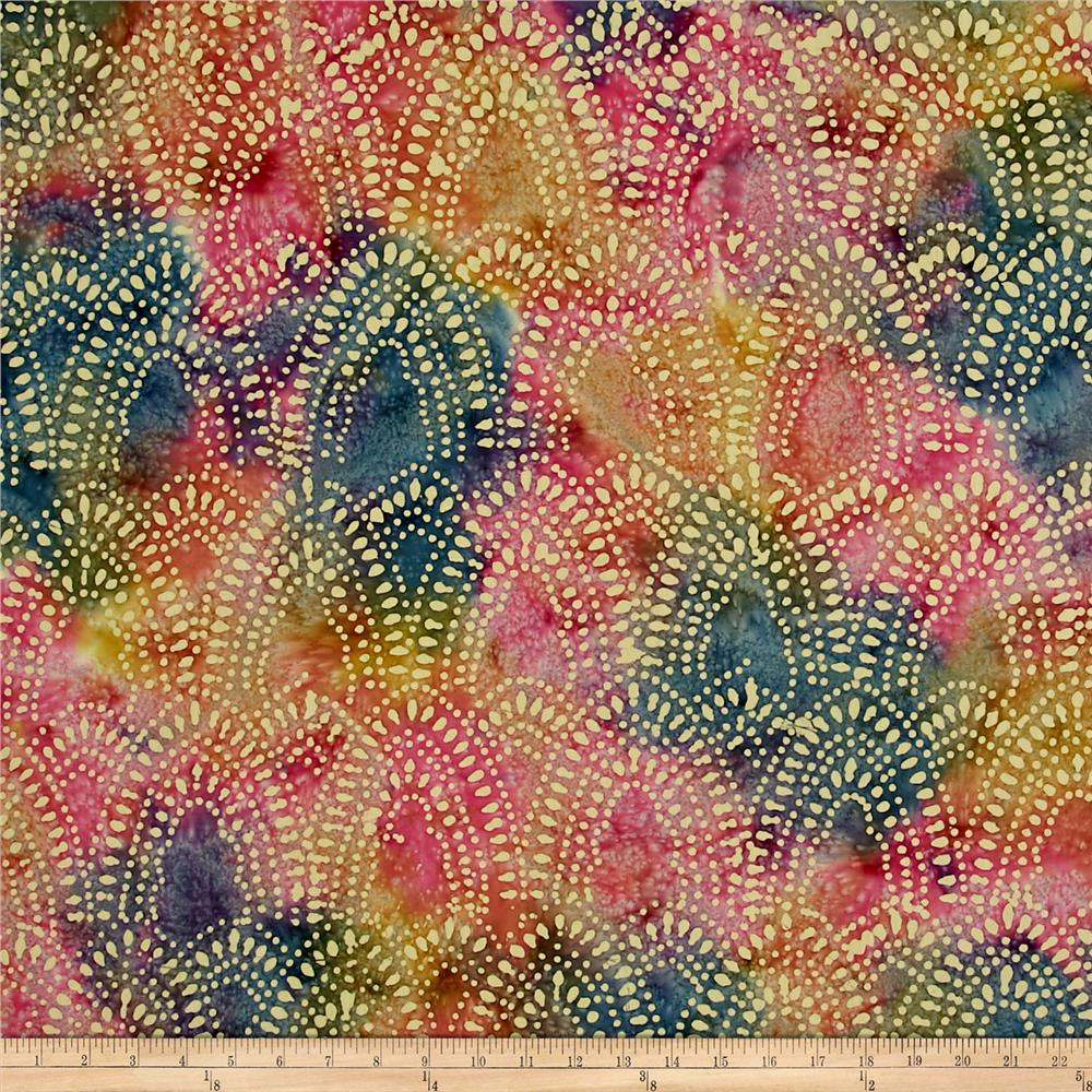 Indian Batik Arches Blue/Pink/Yellow