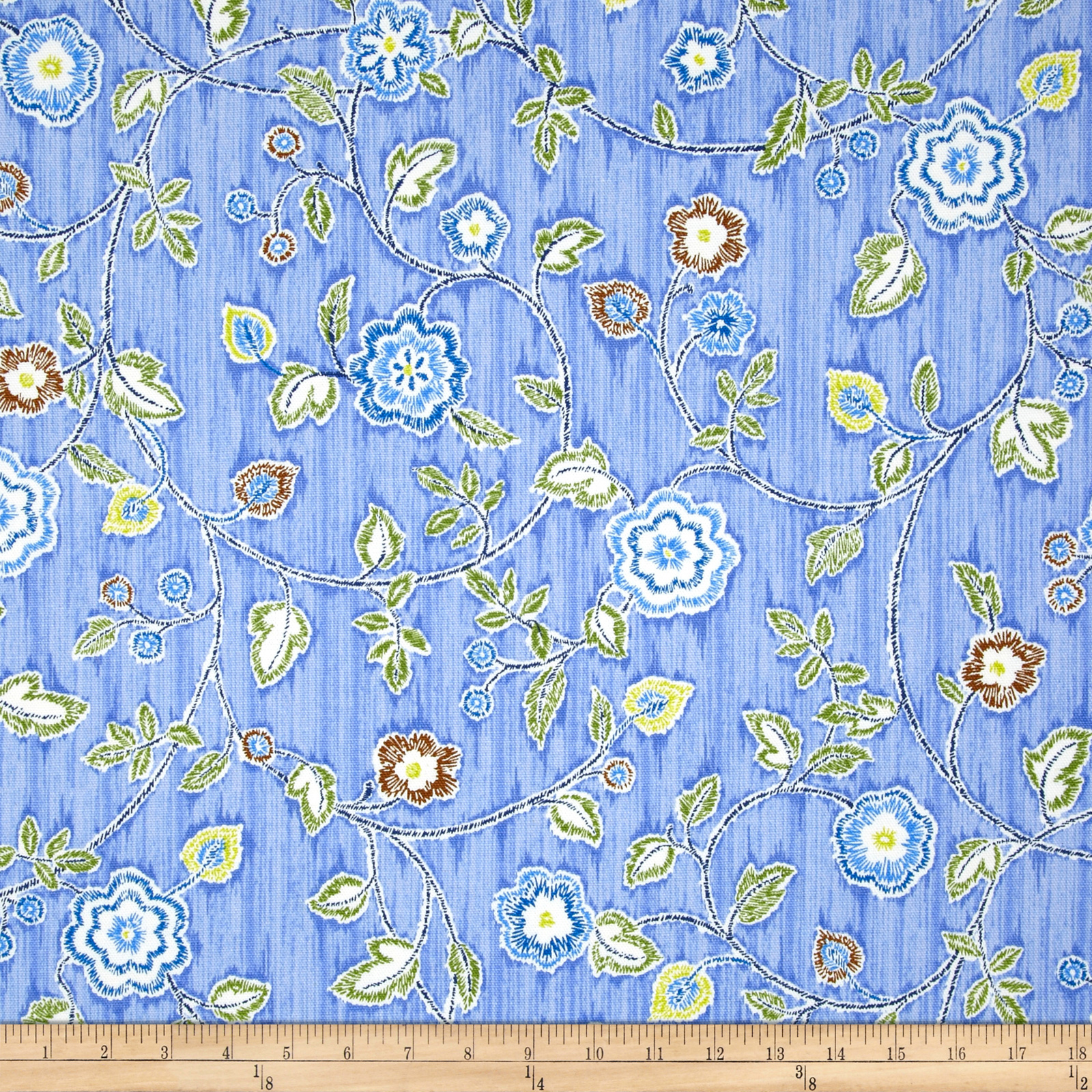 Iman Home Radiant Trail Lapis Fabric