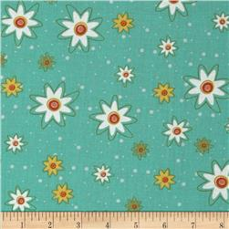 Marmalade Cottage Daisies All Over Teal