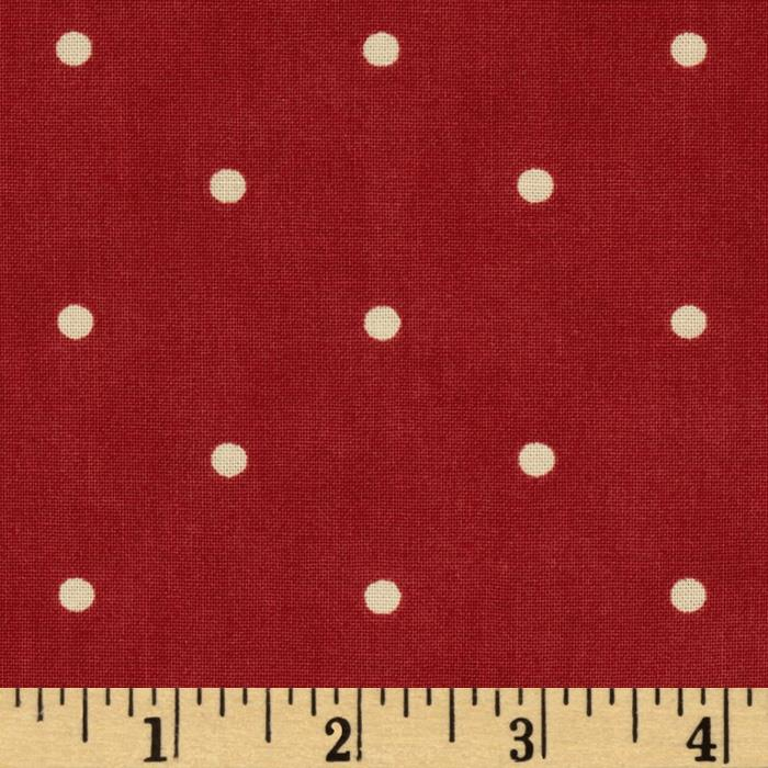 Moda Midwinter Reds Dots Red