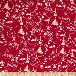 Season's Greetings Ornaments Red