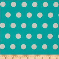 Michael Miller Textured Basics Cool Dots Teal