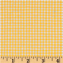 Woven Poly/Cotton Seersucker Gingham Yellow Fabric