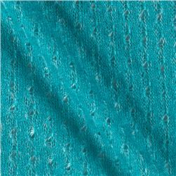 Textured Sweater Knit Turquoise
