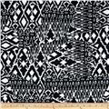 Stretch Prada Twill Ethnic Quilt Black/White