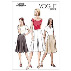 Vogue Misses' Skirt Pattern V7910 Size 060