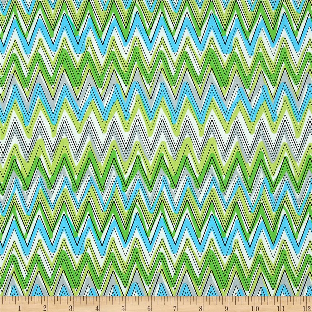 Kanvas Down Under Fun Stripe Aqua/Green