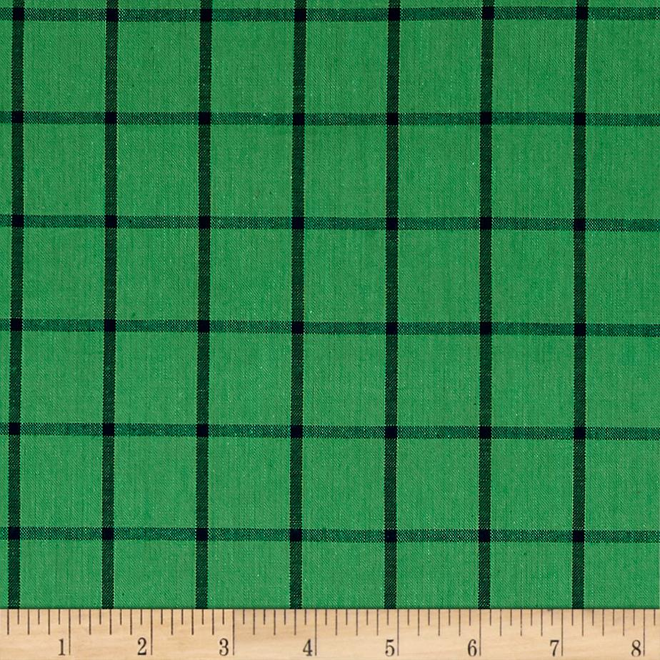 Cloud 9 Orangic Yarn Dye Shirting Plaid Shamrock/Ocean