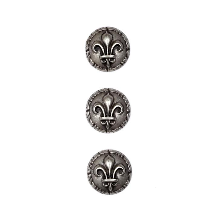 "Metal Button 5/8"" Ancient Rome Antique Silver"