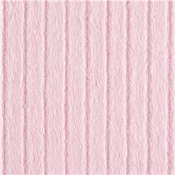 Minky Embossed Ribbon Cuddle Baby Pink Fabric