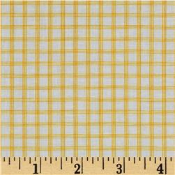 Citrus Tattersall Plaid Lemon