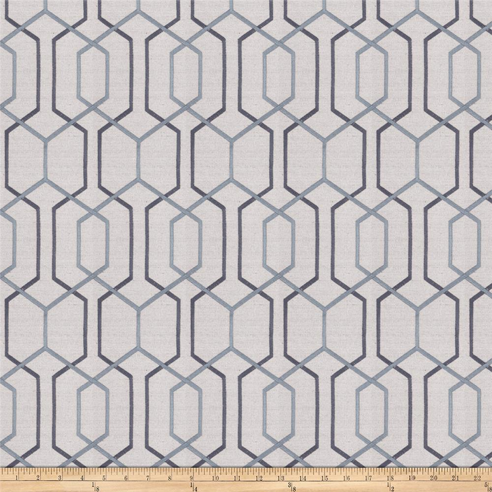 Fabricut Crosswise Steel Blue