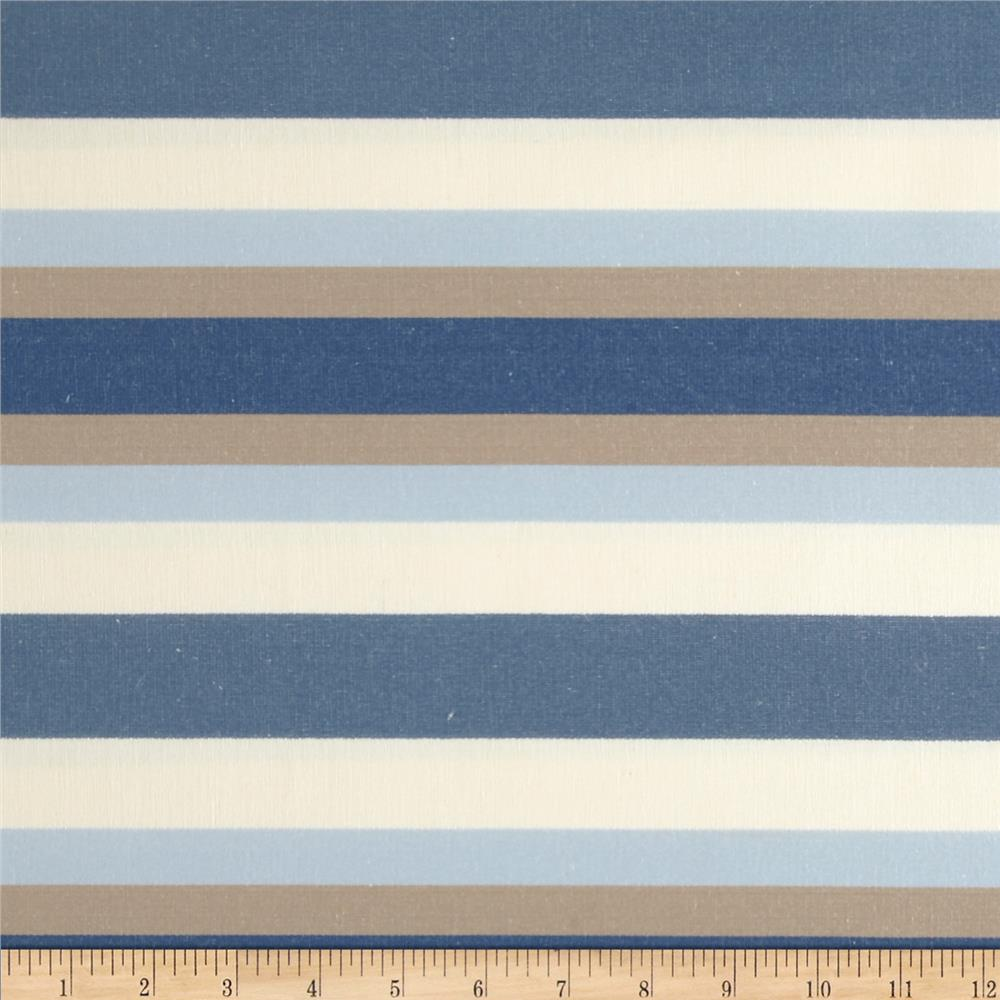 Jaclyn Smith 02621 Bank Stripe Blend Denim