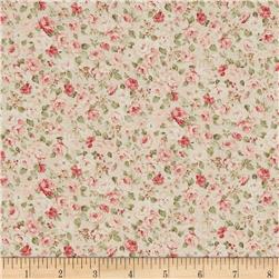 Kaufman Margeaux Small Flower Ivory