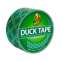"Patterned Duck Tape 1.88"" x 10yd-Emerald Tiles"