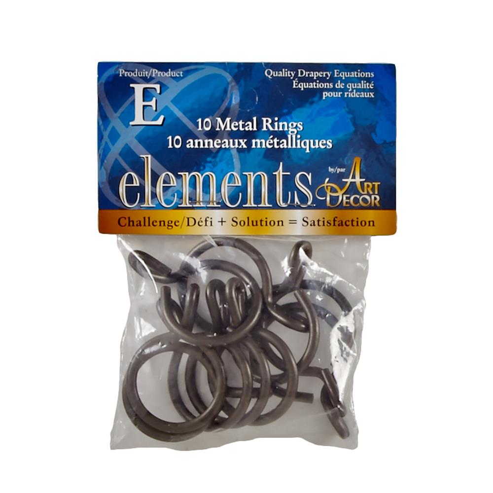 "Elements by Art Decor 1 1/4""Metal Rings with Eyelets Oil Rubbed Bronze"