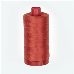 Aurifil 12wt Embellishment and Sashiko Dreams Thread Dark Red Orange