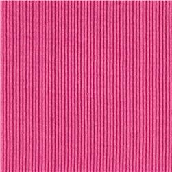 Rayon Spandex Rib Knit Solid Mulberry Pink