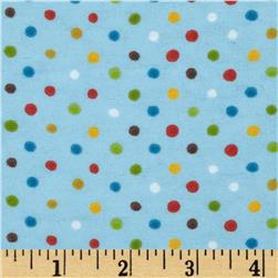 Aunt Polly's Flannel Small Polka Dot Blue/Multi