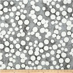 Kaufman Black & White Big Dots Pewter