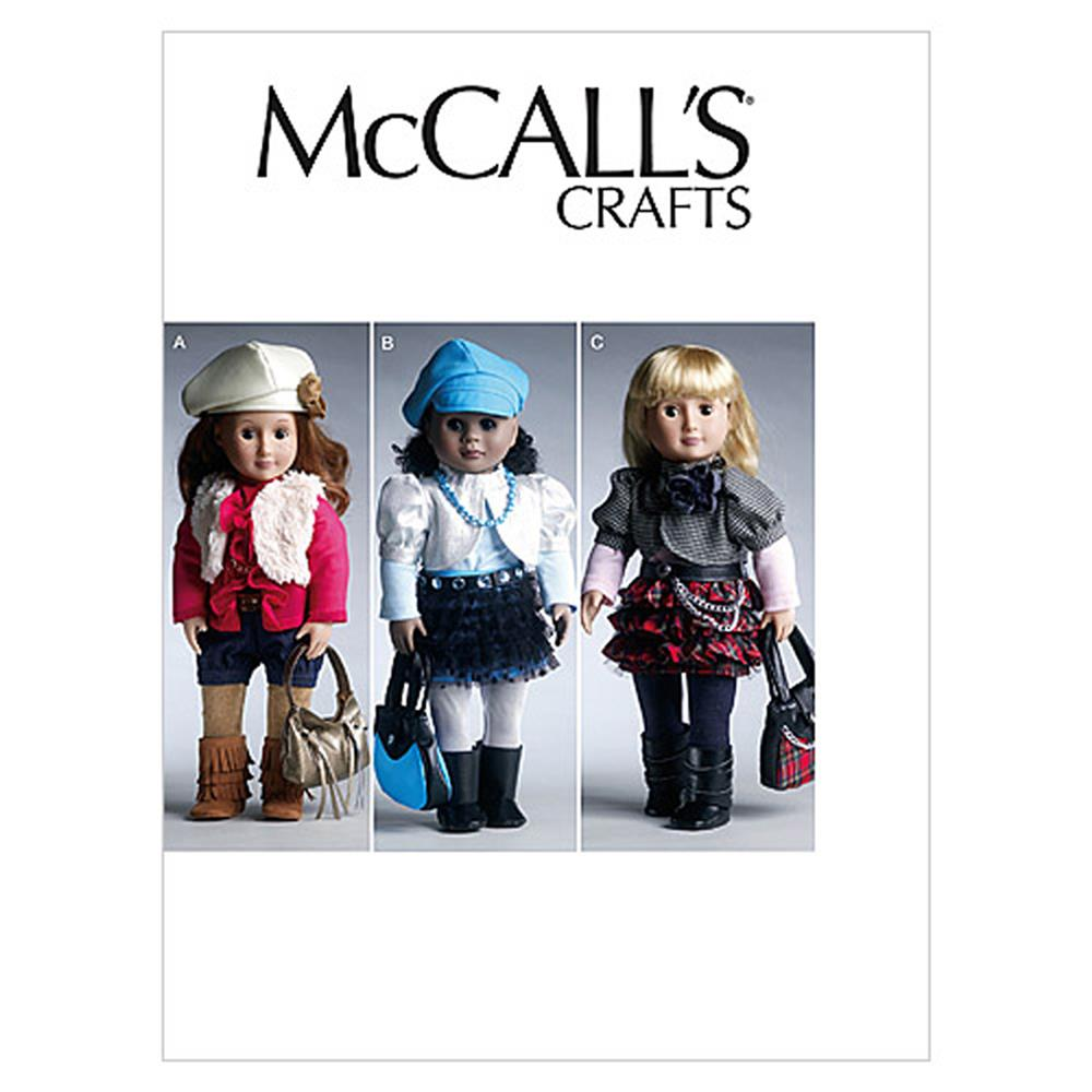 "McCall's 18"" (46cm) Doll Clothes and Accessories Pattern M6480 Size OSZ"