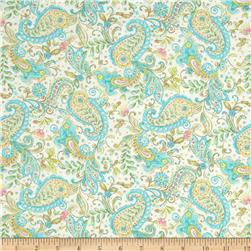 Timeless Treasures Love Paisley Cream