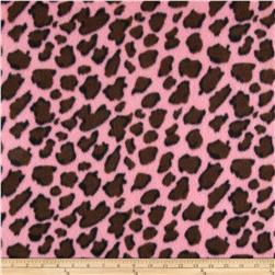 Fleece Print Paws Pink/Brown