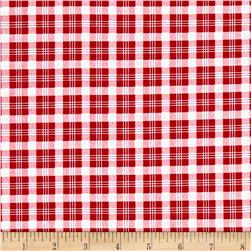 Verna Mosquera Peppermint Rose Christmas Plaid Cranberry