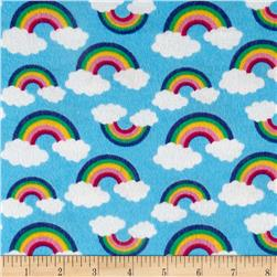 Rainbow Flannel Blue